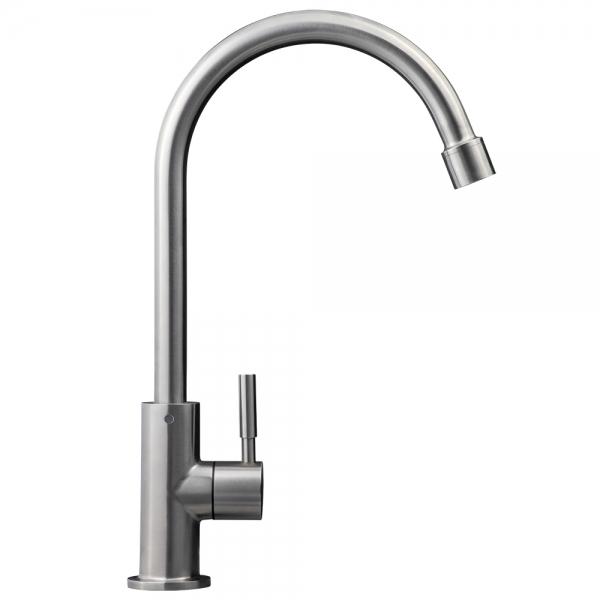Design-Wasserhahn Alba aus Edelstahl
