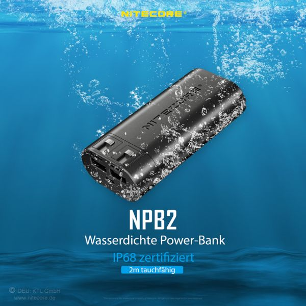 Nitecore NPB2 die wasserdichte Powerbank