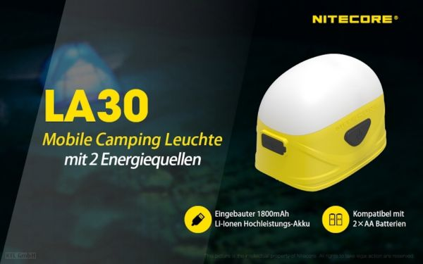 Nitecore LA30 Mobile Campingleuchte