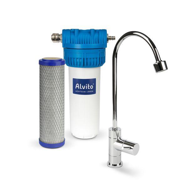 Alvito Einbaufilter Basic + ABF Primus SD + Wasserhahn