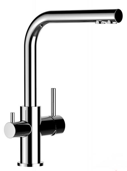 3-Wege-Wasserhahn Paola verchromt Abbildung